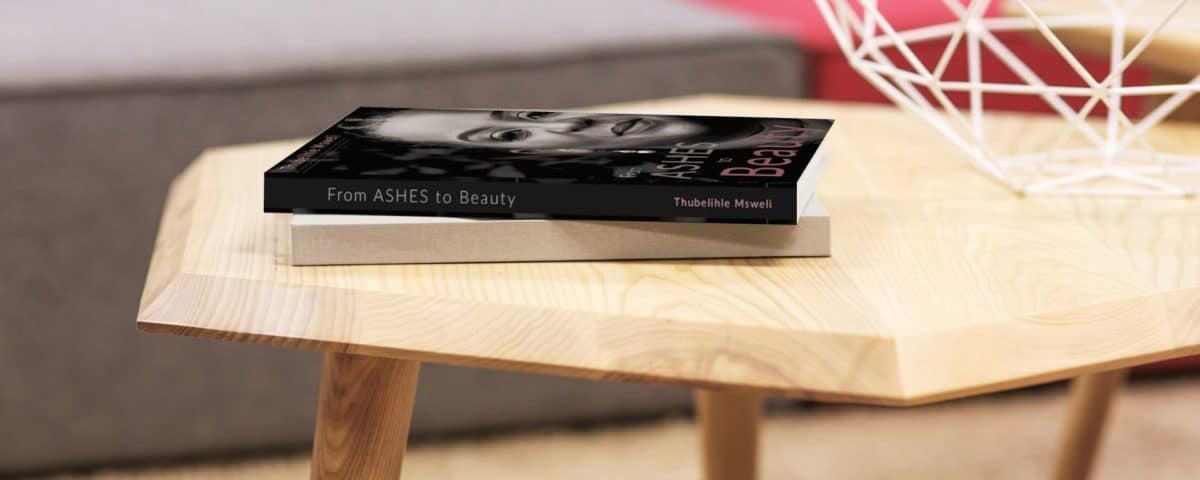 ashes to beauty on table